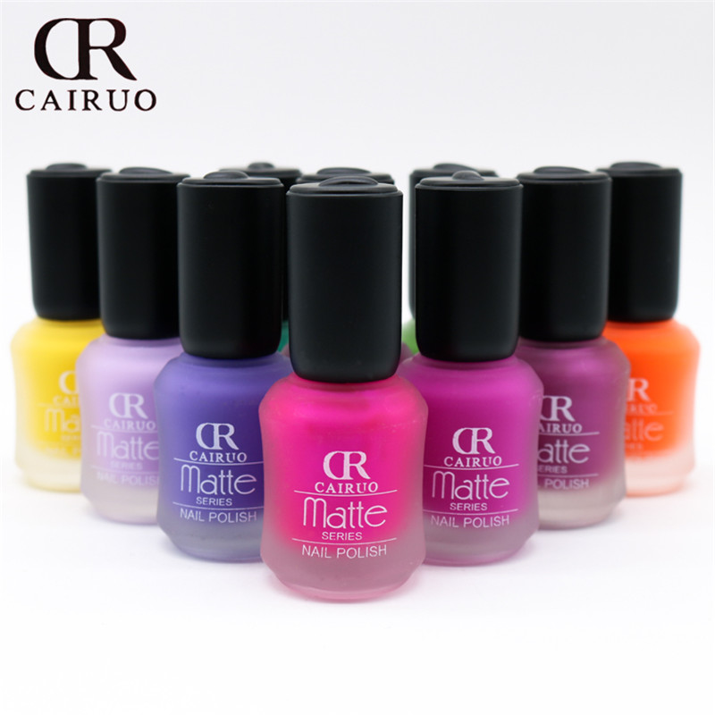 new 36 colors Satin Frosted bottle long lasting nail art varnish ...