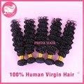 Grau 7A malásia onda profunda Virgin Hair Extension 8 - 28 polegada Instock cor Natural da malásia cabelo malásia virgem cabelo 5 Pcs Lot