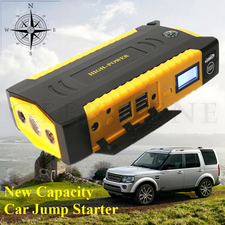 New Super Capacity 69800mAh Multi Function 12V Car Jump Starter 4USB Power Bank Compass SOS font