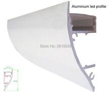 10 х 1 м Наборы для ухода за кожей/много шайбы стены алюминиевый профиль для Светодиодные полосы и arc экструзии стены профиль для стен до Лампы