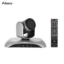 Aibecy 1080P FHD USB Video Conference Camera Auto Focus 360D Auto Scan Plug-N-Play with Infrared Remote Control for work office(China)