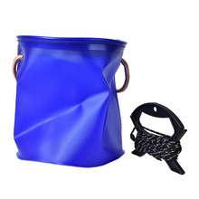 Dia 18cm Outdoor Canvas Bucket Folding Bucket Portable Camping Hiking Fishing Bucket Fishing Tackle Tool