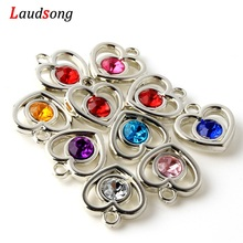 Heart Charm Pendants Bracelet Findings Necklace-Accessories Jewelry Making Acrylic-Drill