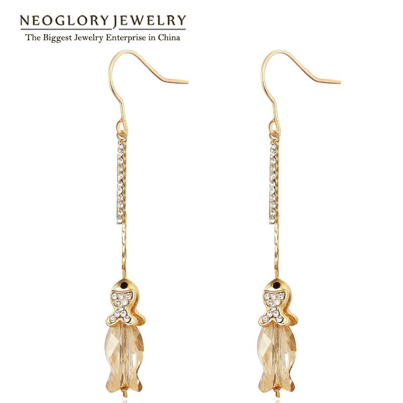 Brilliant Elder Women Long Earrings Jewelry Free Shipping In Drop Earrings