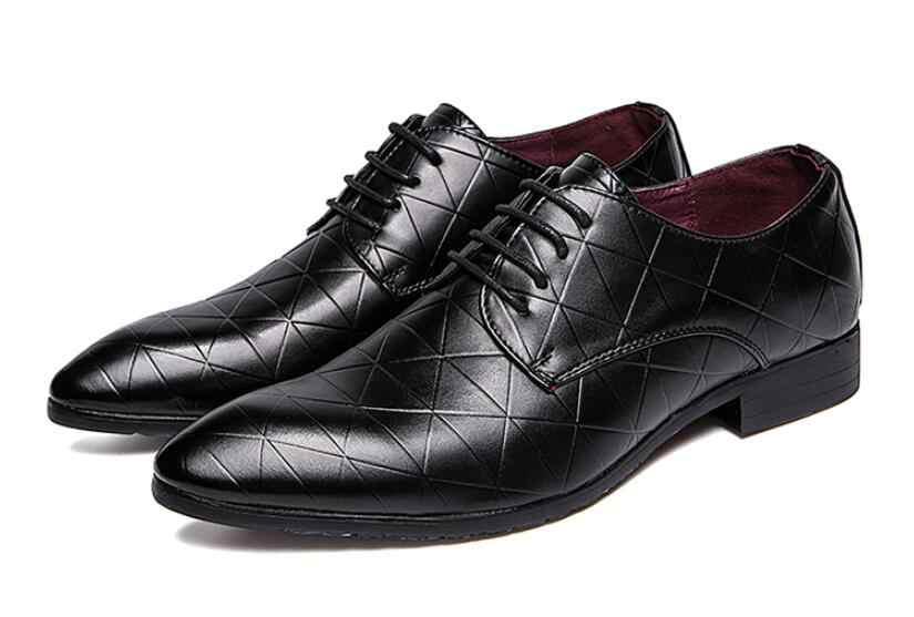 Новые модные мужские свадебные туфли в деловом стиле, мужские оксфорды с острым носком, мужские офисные модельные кожаные туфли