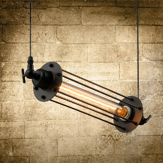 Loft Style Iron Retro Edison Pendant Light Fixtures Vintage Industrial Lighting For Dining Room Bar Hanging Droplight Lamparas retro loft style iron cage droplight industrial edison vintage pendant lamps dining room hanging light fixtures home lighting