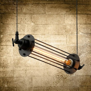 Loft Style Iron Retro Edison Pendant Light Fixtures Vintage Industrial Lighting For Dining Room Bar Hanging Droplight Lamparas