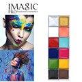 Dia das bruxas 12 Flash Color Palette Cosméticos Eye Maquiagem Rosto de Cosméticos caso Rosto Corpo Pintura Pintura A Óleo Arte Beleza Make Up ferramentas
