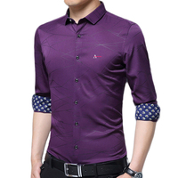 Dudalina Camisa Aramis 2017 New Men Slim High Quality Long Sleeve Shirt Cotton Casual Men S