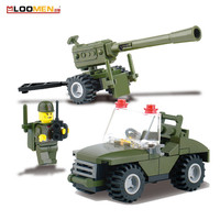 93pcs Puzzle DIY Field Armies Assemble Toy Early Educational Model Cannon Small Particles Building Blocks For