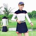 PGM Golf Kleidung Weiblichen Kurzen Unterteilt Sommer Frau Faltete Tennis Mini Rock T shirt Futter XS S M L XL-in Golf-Shorts aus Sport und Unterhaltung bei