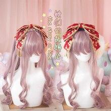 Princess sweet lolita Japanese Handmade bow tassel hairpin Japanese Sakura for lolita girls  best choice  GSH112