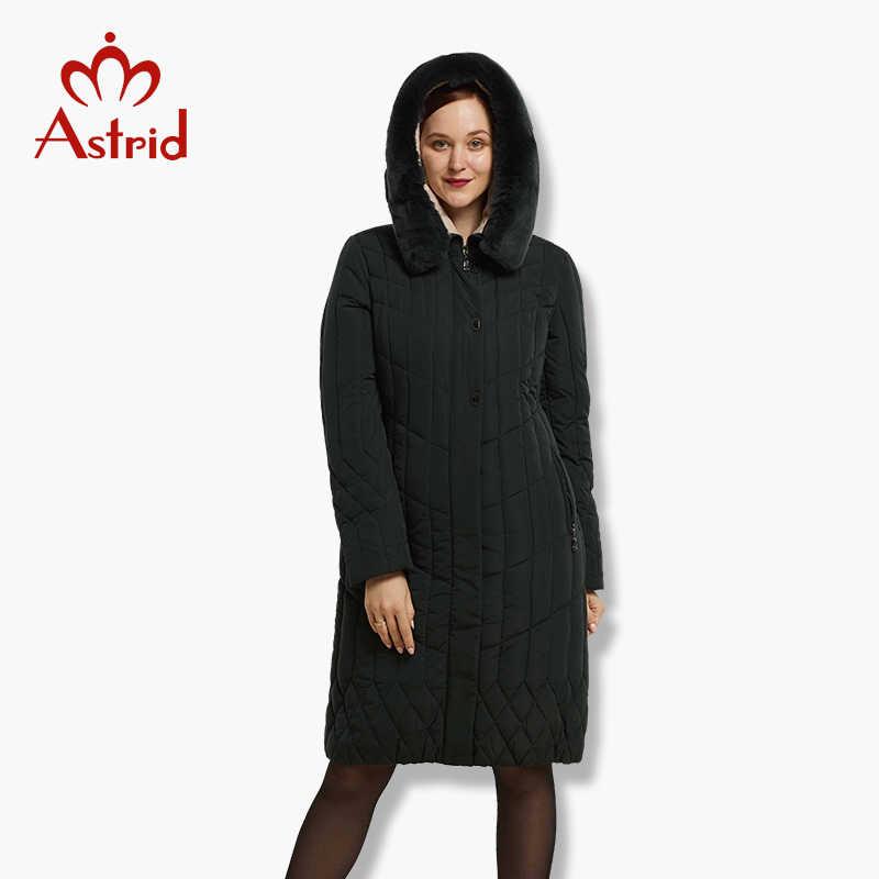 אסטריד גדול גודל חורף נשים מעיל מעיל חם למטה מעיל גדול מעיילי חדש חורף כותנה להאריך ימים יותר חורף מעיל FR-6628