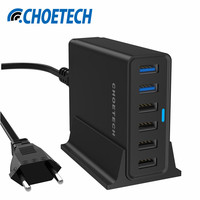 Universal Mobile Phone Multi 6 Port USB Charger Quick Charge 3 0 USB Charging Wall Station