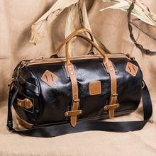2019 New Pu Mens Large-capacity Travel Bag Retro-baitao Personal