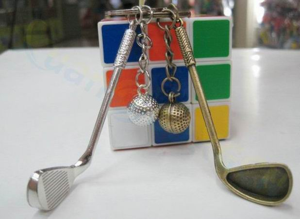 100pcs Golf bag Ornaments plastic mini Pendant golf ball key ring sport advertisement key chain sports fans souvenirs key ring