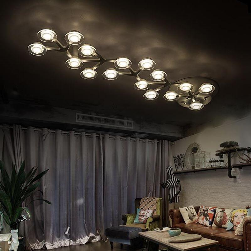 Modern led luzes de teto luminárias para sala de estar quarto lâmpada com material é de Alumínio lâmpada do teto de acrílico - 4