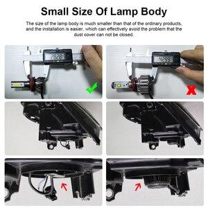 Image 3 - 2 sztuk reflektor samochodowy lampa H7 H8 H11 żarówki LED H1 H4 HB2 czołówki LED 9005 HB3 9006 HB4 6000k światło przeciwmgielne 12V 6000LM lampa LED 36W