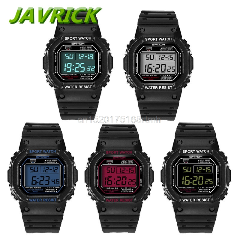 все цены на Military Waterproof Men's LCD Digital Stopwatch Date Rubber Sport Wrist Watch