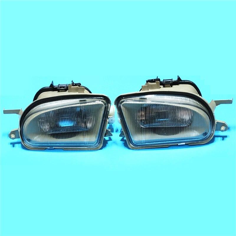 For MERCEDES-BENZ E-CLASS W210 1995/96/97/98 car styling fog lights lamps 1 SET Pattern glass стоимость