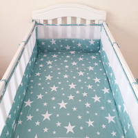 2PCS Breathable Cotton Prevent Falling Baby Crib Bumpers Baby Safety Fence For Bedding Beds For Newborn