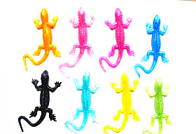 1pcs Novelty Gag Toys Products Lizard Animals Slime Viscous Climbing Action Figure Funny Gadgets For Kids Prank