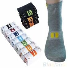 Hot 7 Pairs Lot Week Casual Mens Fashion Dress Socks Men Cotton Ankle Socks Crew Sock