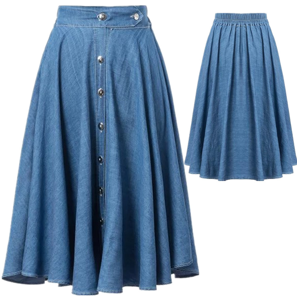 Compare Prices on Long Denim Skirts for Women- Online Shopping/Buy ...