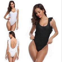 One Piece Swimsuit Female Backless Bodysuit Solid Monokini Swimwear Women Bathing Suit Swimming Beach Wear Bodysuit цены