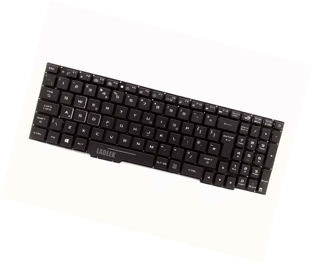 New UK backlit keyboard for Asus Rog GL553VD GL553VE GL553VW no palmrest