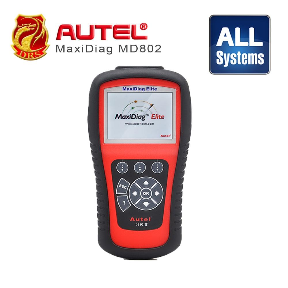 Prix pour 100% D'origine AUTEL MaxiDiag Elite MD802 Tout système + DS modèle 4 en 1 auto scanner Autel MD802 PRO (MD701 MD702 + + + MD703 MD704)
