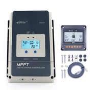 Зарядное устройство для солнечной панели EPSOLAR Tracer 10A-100A MPPT с пультом дистанционного управления MT50, 10А/20А/30А/40А/50А/60А/80а/100А