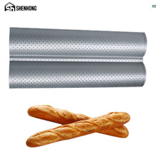 SHENHONG 100% Food Grade Carbon Steel 4 Groove 2 Groove Wave French Bread Baking Tray For Baguette Bake Mold Pan Banneton