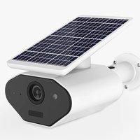Security Solar Wifi Camera Wireless 1080P HD Solar Battery Power Bullet TF Card WiFi Network Battery Camera