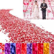 1000pcs Silk Rose Flower Petals Leaves DIY Handmade manual Artificial flowers petal Wedding Decorations Party Supplies