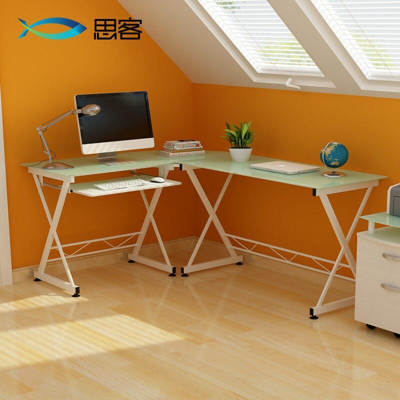 tienda online mejor fuera cristal minimalista moderna la computadora escritorio de oficina escritorio de la esquina escritorio casero simple combinacin