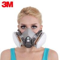 3M KN95 Пылезащитная маска респиратор, гарнитура 6200 + 2091 пылезащитные фильтры анти-Пылезащитная Маска Анти-туман и туман PM2.5 защитные маски