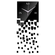 51pcs Home decoration modern design luxury mirror wall clock,3d crystal watches Wall stickers free delivery