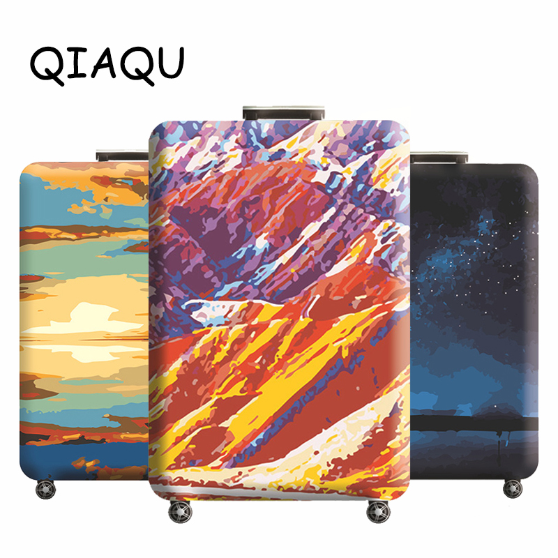 Travel Luggage Cover Thicken Elastic Suitcase Protective Sleeve For 18-32 Inch Trolley Cover Bag Accessories Baggage Dust Cover