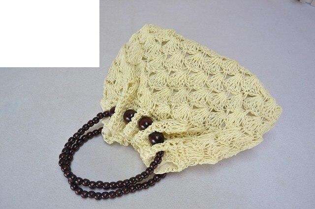 28x22 Cm Handgefertigte Kunst Paket Häkeln Handtaschen Buddha Perlen