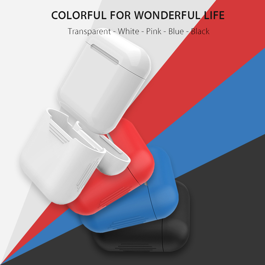 For Iphone Airpods Silicone Case Soft TPU Ultra Thin Protector Cover Sleeve Pouch For Earphone With Anti Lost Strap Loop String