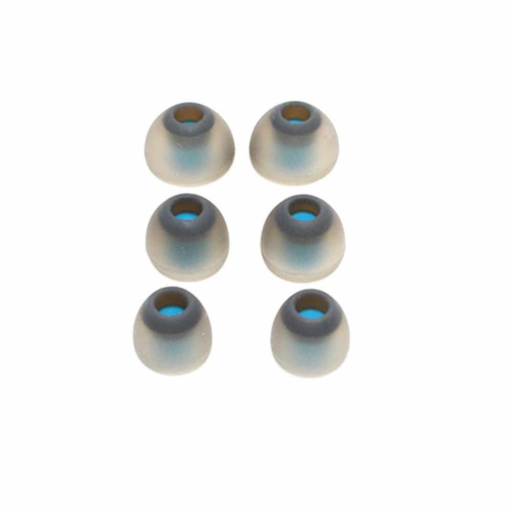 3 pary silikonu wymiana potrójne kołnierz zatyczki do uszu porady wkładki douszne dla AKG K374 K375 K376 K3003 słuchawki douszne