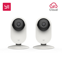 YI Home Camera 720P 2pc Night Vision WIFI Cam IP Wireless Network Security Surveillance Camera Owl