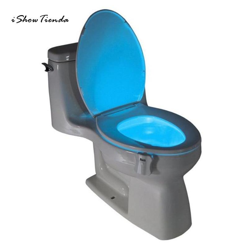 ISHOWTIENDA New 1PC Body Sensing Automatic LED Motion Sensor Night Lamp Toilet Bowl Bathroom Light vasos sanitários coloridos