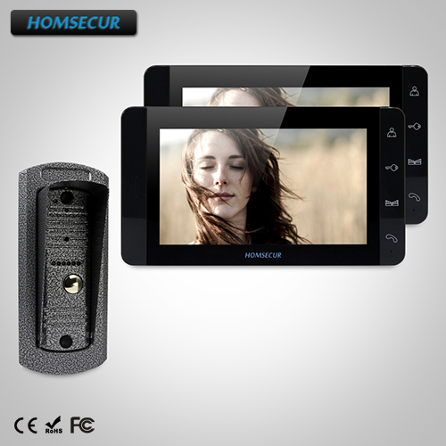 HOMSECUR 7 Wired Video&Audio Home Intercom+Metal Case Camera for Home Security TC041 + TM703-B