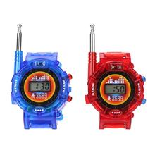 2pcs/Pair Kids Watch Intercom Toys Watch Walkie-Talkie Toy Children Interaction Interphone Toy Electronic Toy Button Batteries