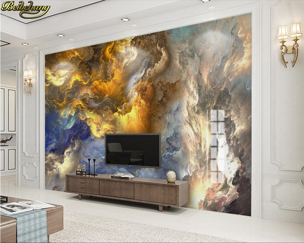 Beibehang Custom Photo Wallpaper Mural Modern Abstract Colorful Fire Cloud TV Wall Papel De Parede 3d Wall Papers Home Decor