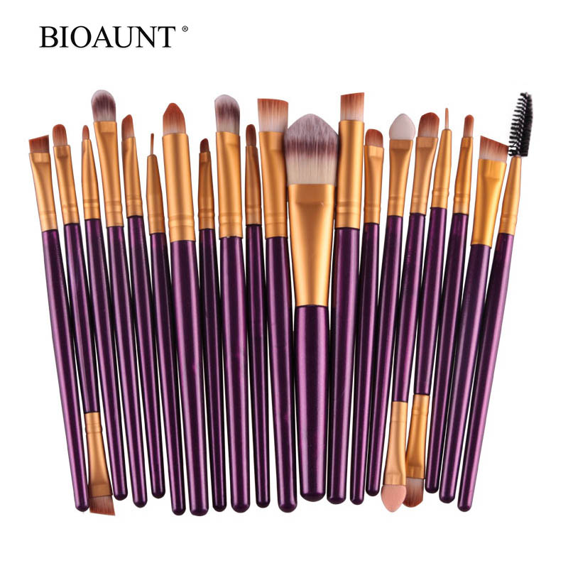 BIOAUNT 20Pcs Professional Makeup Brushes Set for Face Foundation Eyebrows Eyeshadow Lips & Blushes Beauty Brush Cosmetic Tools