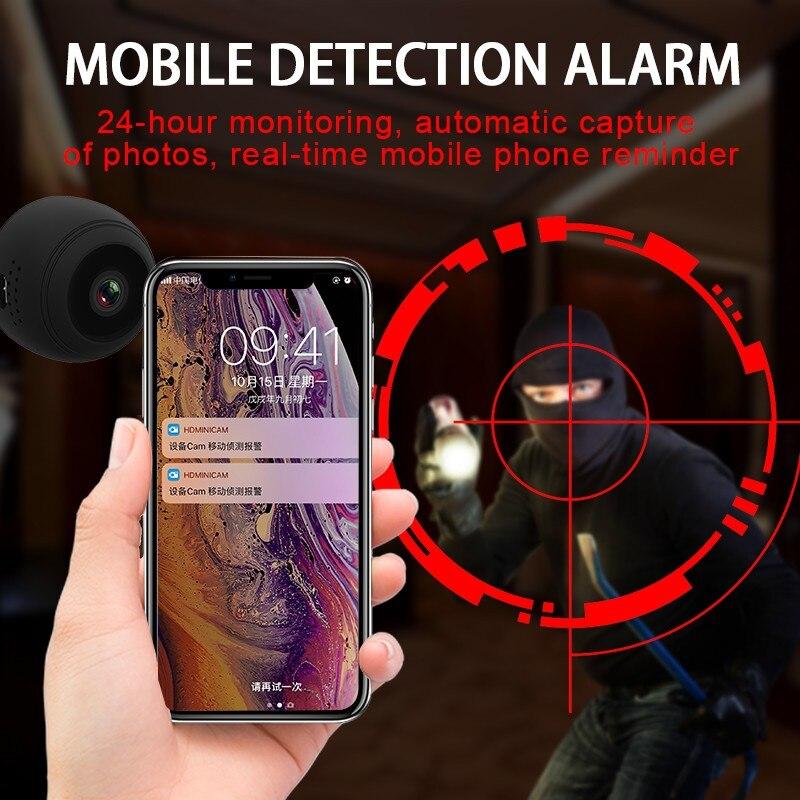 Mini Sans Fil WiFi caméra 1080 P caméra ip hd moniteur à distance caméra de sécurité de Détection de Mouvement vision nocturne caméscope À La Maison caméra ip - 4