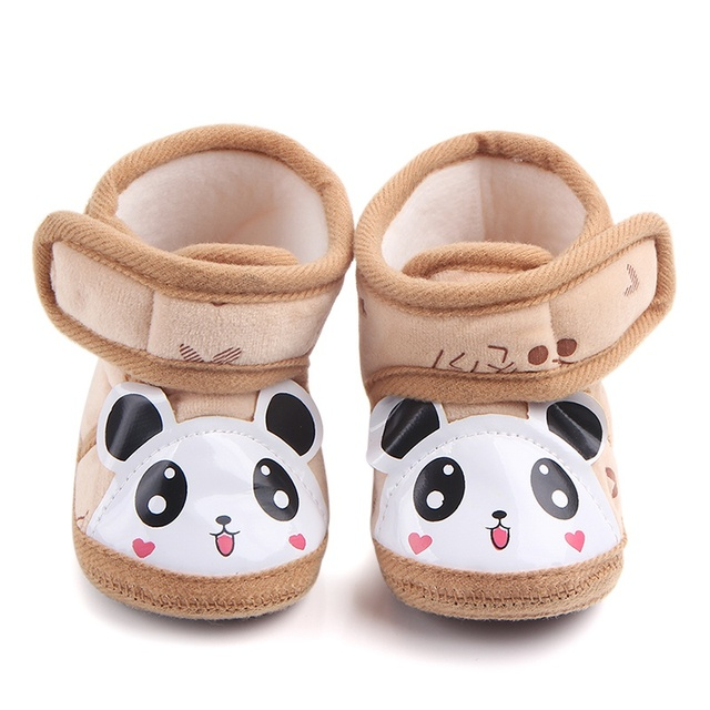 94725b26d36a1f Kids First Walkers Newborn Baby Infant Warm shoes Anti-slip Cute Panda Shoes  Soft Sole Slippers 0-12M